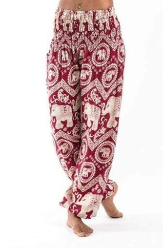 Elephant Shirt Store Pants Lay Chang Kongchak Red Elephant Pants