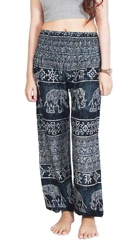 Elephant Shirt Store Pants Lay Chang Madyum Black Elephant Pants