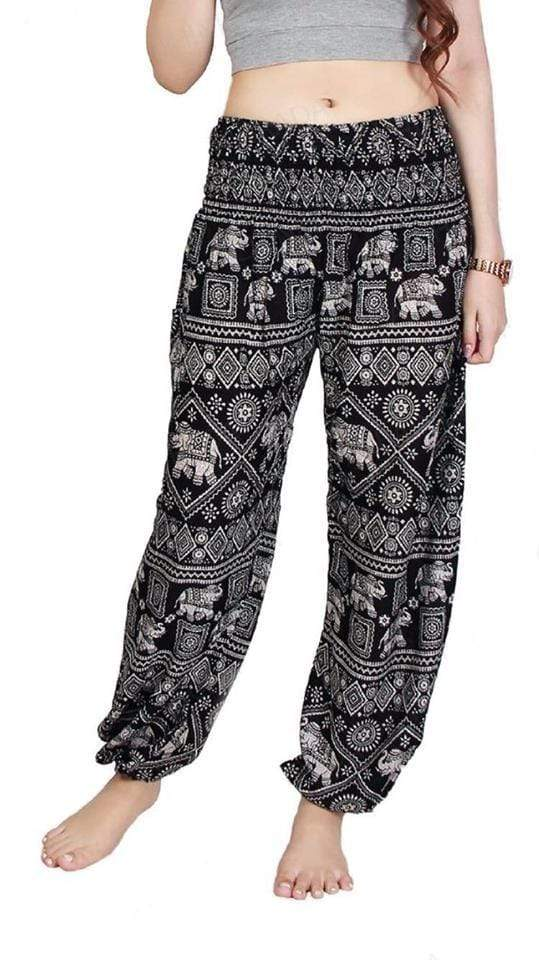 Elephant Shirt Store Pants Lay Chang Stamp Black Elephant Pants