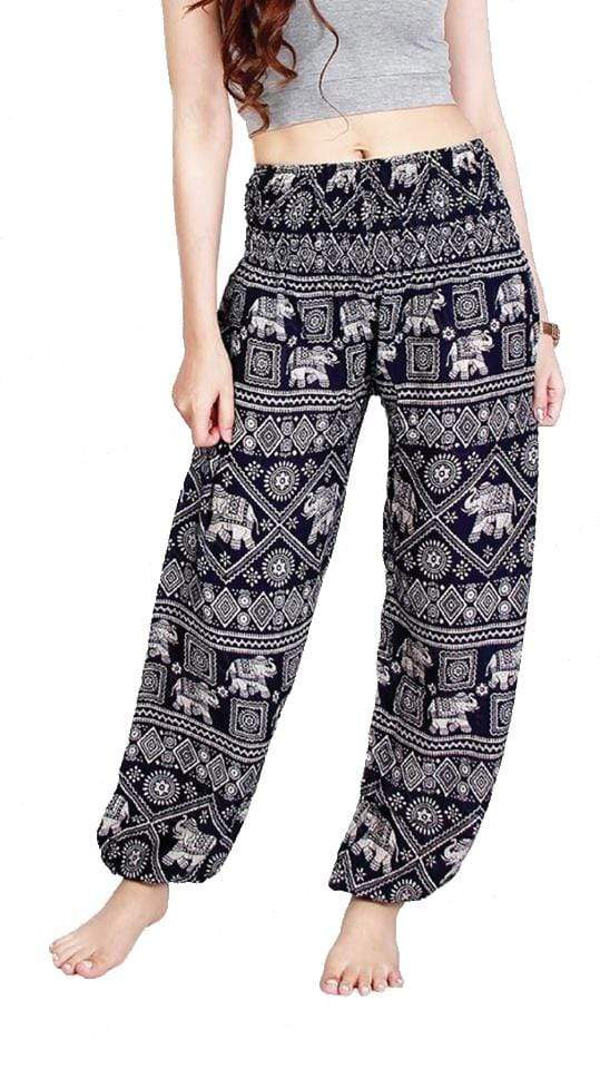 Elephant Shirt Store Pants Lay Chang Stamp Dark Blue Elephant Pants