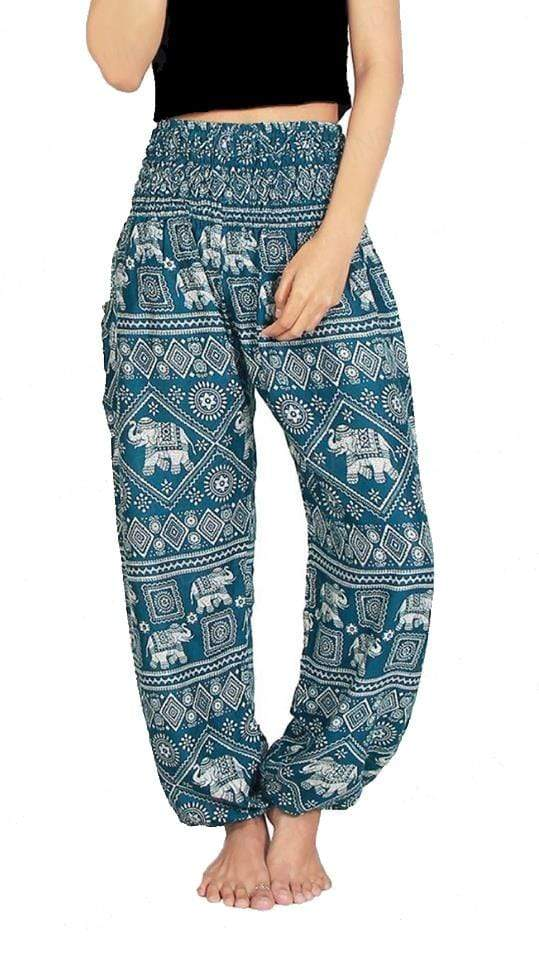 Elephant Shirt Store Pants Lay Chang Stamp Green Elephant Pants