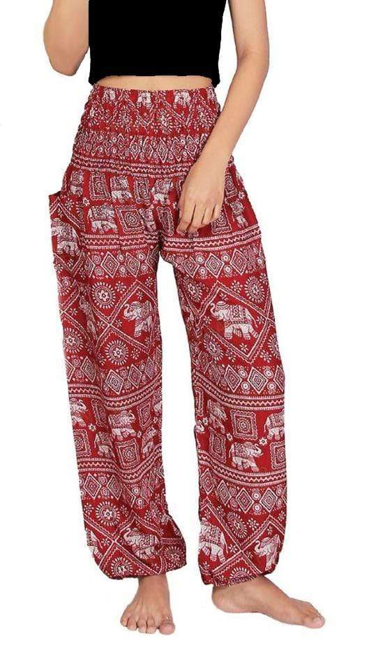 Elephant Shirt Store Pants Lay Chang Stamp Red Elephant Pants