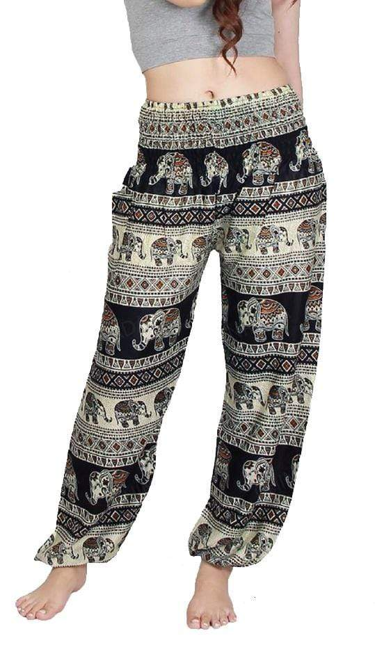 Elephant Shirt Store Pants Lay Chang Tophit Black Elephant Pants