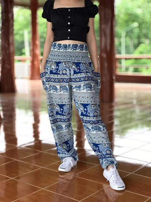 Elephant Shirt Store Pants Lay Chang Tophit Blue Elephant Pants