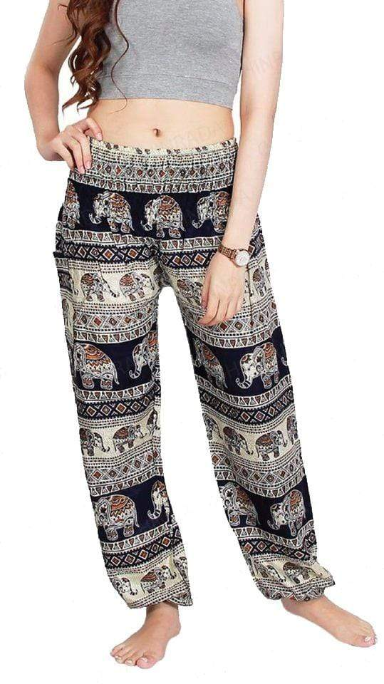 Elephant Shirt Store Pants Lay Chang Tophit Dark Blue Elephant Pants