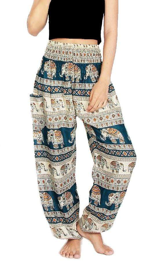 Elephant Shirt Store Pants Lay Chang Tophit Green Elephant Pants