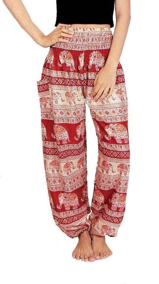 Elephant Shirt Store Pants Lay Chang Tophit Red Elephant Pants