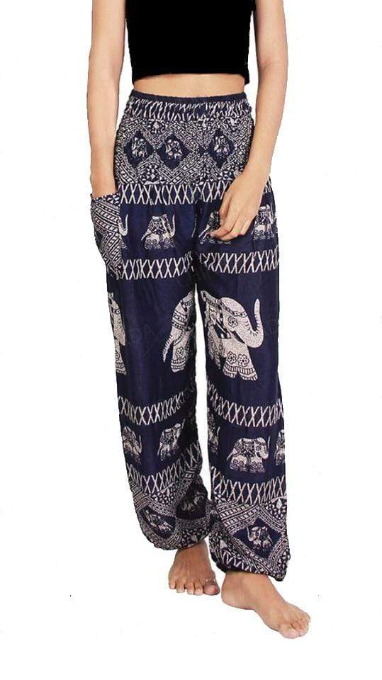 Elephant Shirt Store Pants Lay Chang X Dark Blue Elephant Pants