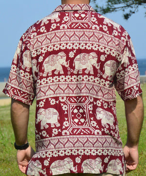 Elephant Shirt Store Shirt 2XL Doklek Shirt - Red