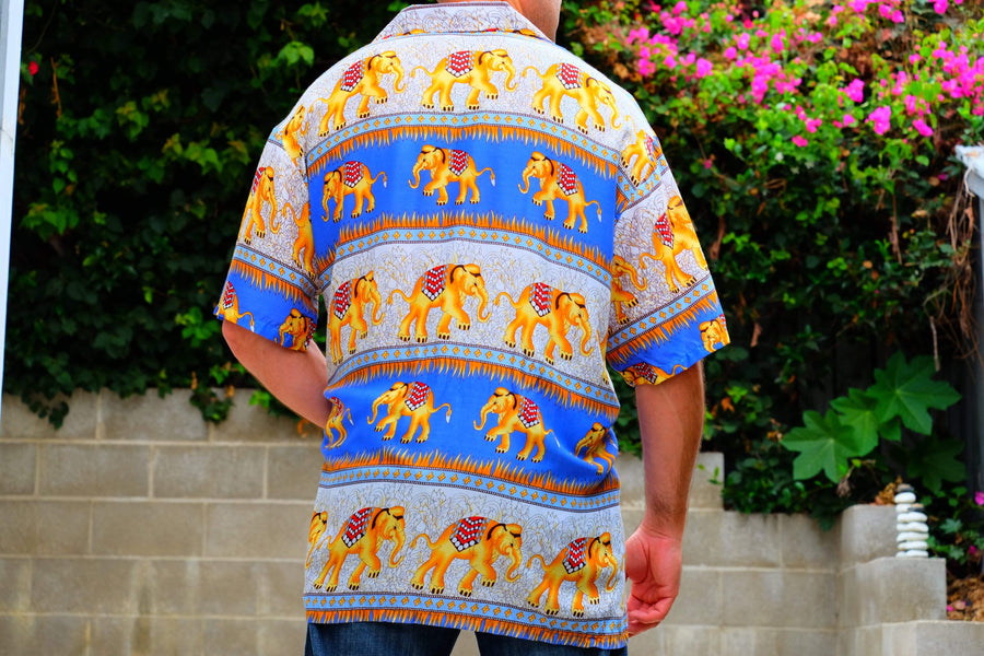 Elephant Shirt Store Shirt 2XL Ngachang Shirt - Dark Blue
