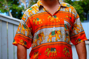 Elephant Shirt Store Shirt 2XL Ngachang Shirt - Orange