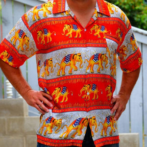Elephant Shirt Store Shirt 2XL Ngachang Shirt - Red