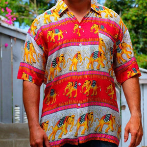 Elephant Shirt Store Shirt 2XL Ngachang Shirt - Red and Pink