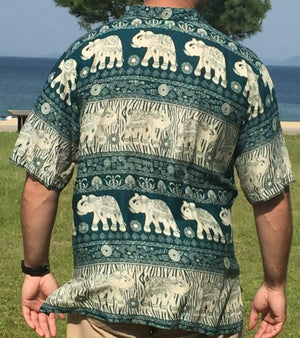 Elephant Shirt Store Shirt 2XL Padtlek Shirt - Green