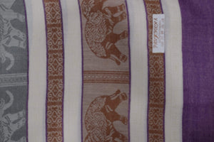 Elephant Shirt Store Women's B Facing Elephants Pashmina - Light Colors