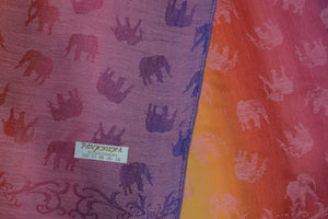 Elephant Shirt Store Women's B Striped Rainbow Elephant Pashmina - Vertical
