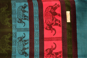 Elephant Shirt Store Women's D Facing Elephants Pashmina - Vivid Colors