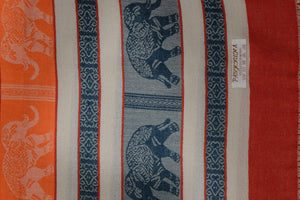 Elephant Shirt Store Women's E Facing Elephants Pashmina - Light Colors