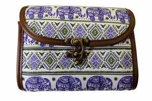 Elephant Shirt Store Women's Handmade Elephant Shoulder Bag - Rectangular Purple