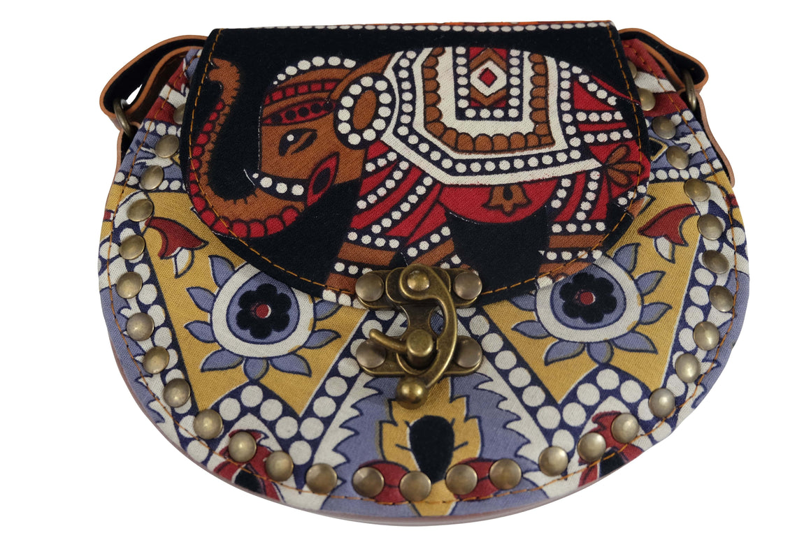 Elephant Shirt Store Women's Handmade Elephant Shoulder Bag -  Style A Black, Red, Brown