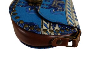 Elephant Shirt Store Women's Handmade Elephant Shoulder Bag -  Style A Blue