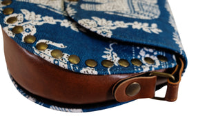 Elephant Shirt Store Women's Handmade Elephant Shoulder Bag -  Style B Blue