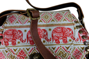 Elephant Shirt Store Women's Handmade Elephant Shoulder Bag -  Style C Red