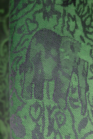 Elephant Shirt Store Women's Intricate Elephant Pashmina - Green