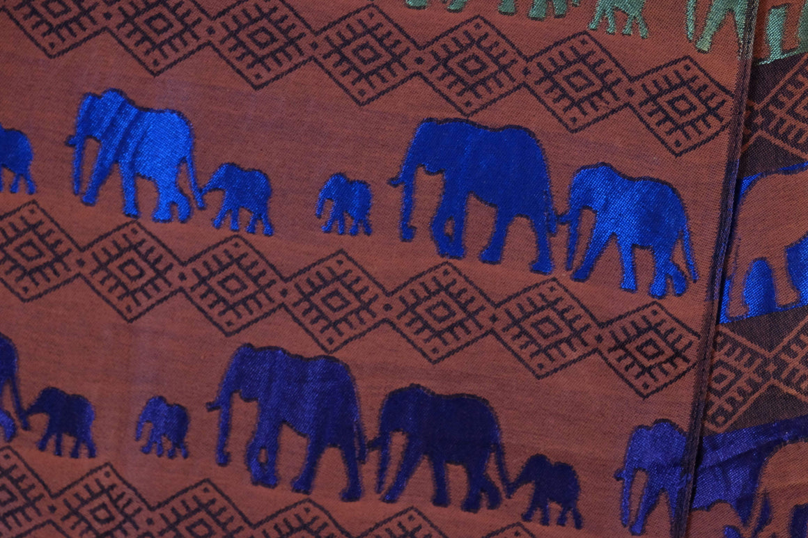 Bright Family Elephant Print Pashmina