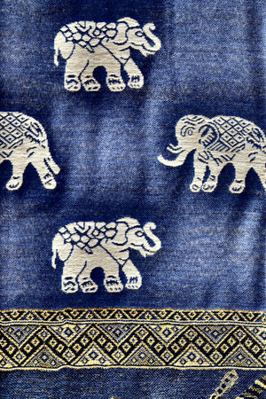 Elephant Shirt Store Women's Ornate Elephant Print Pashmina