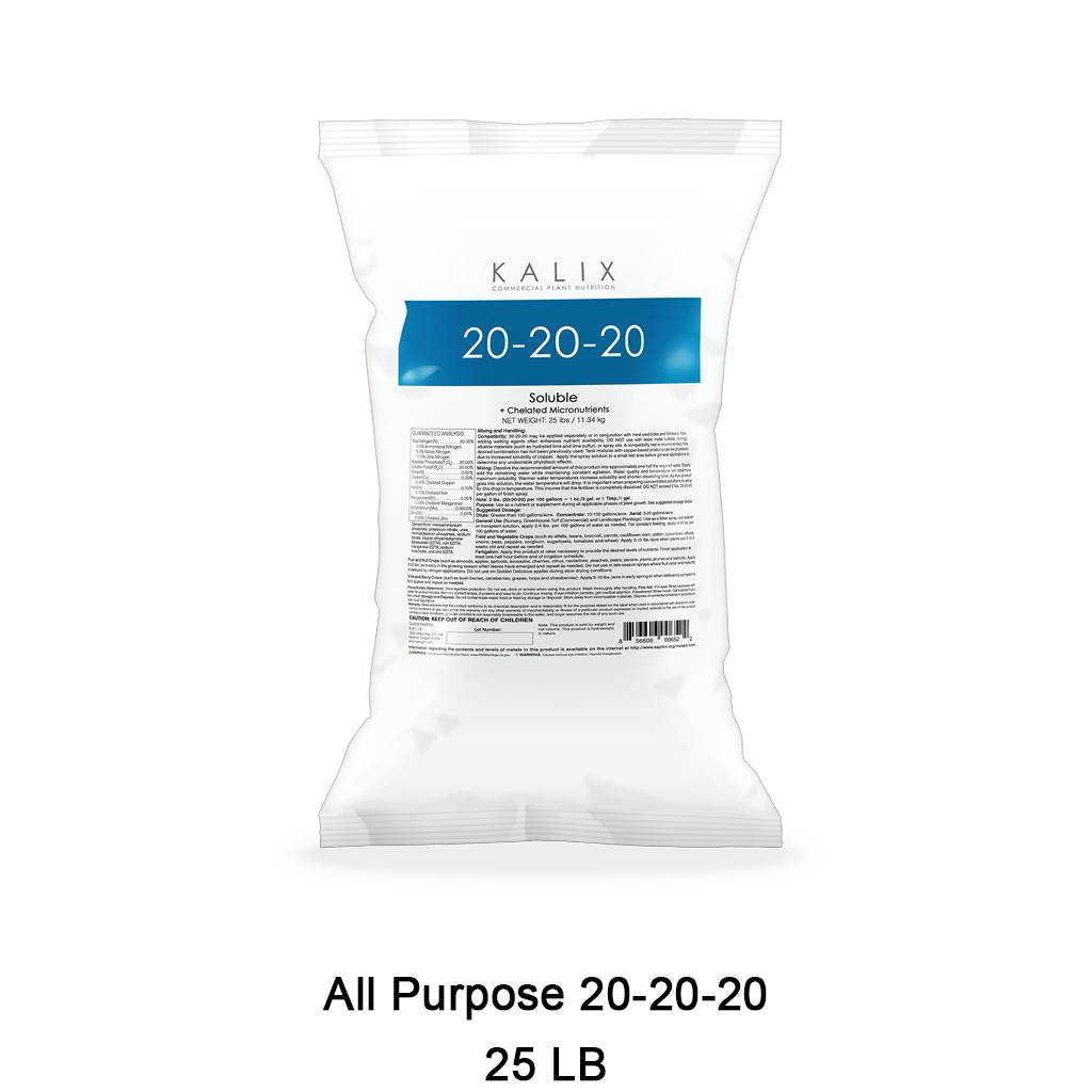 KALIX All Purpose 20-20-20 + Chelated Micronutrients 25 lb