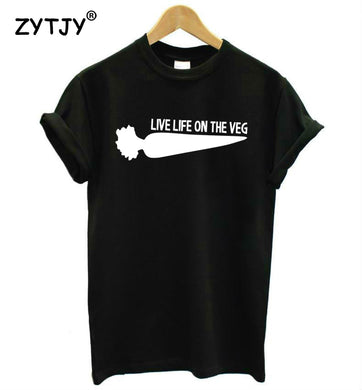 Cotton Live Life On The Veg T-Shirt