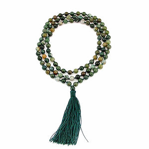 108 Beaded Buddhist Prayer Mala Necklace