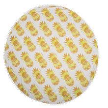Yummy Pineapple Yoga Beach Tapestry