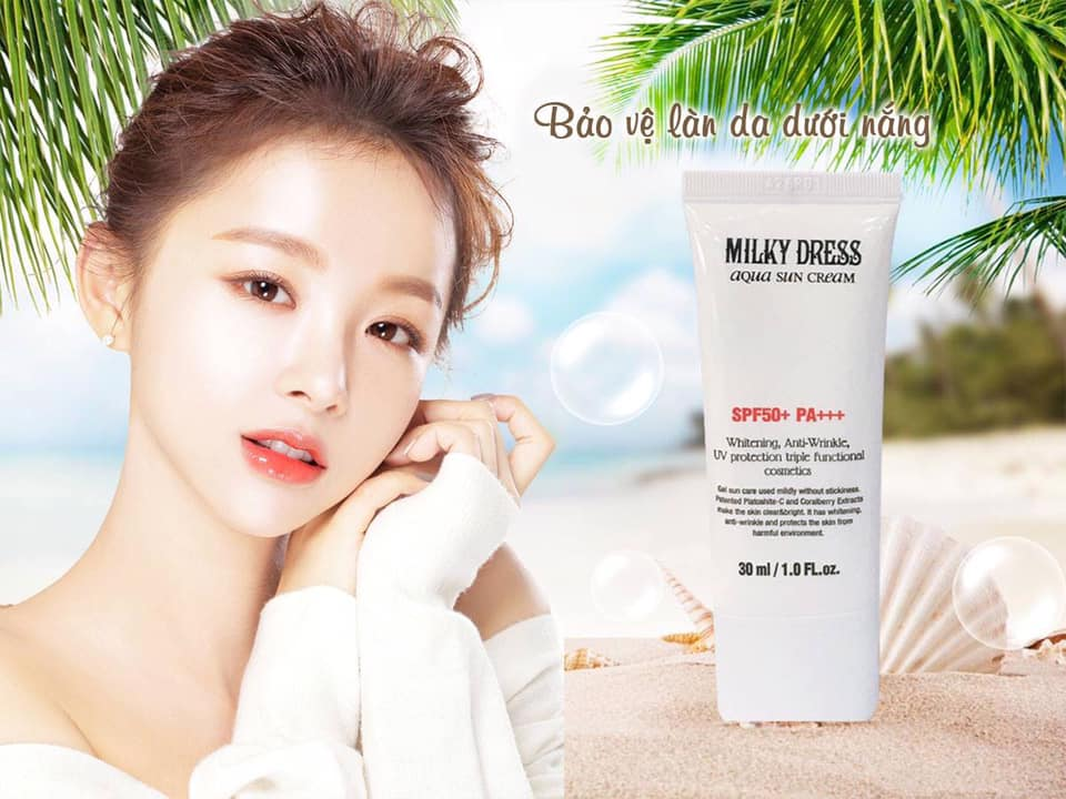 Kem chong nang khong bet dinh Milky Dress Aqua Sun Cream