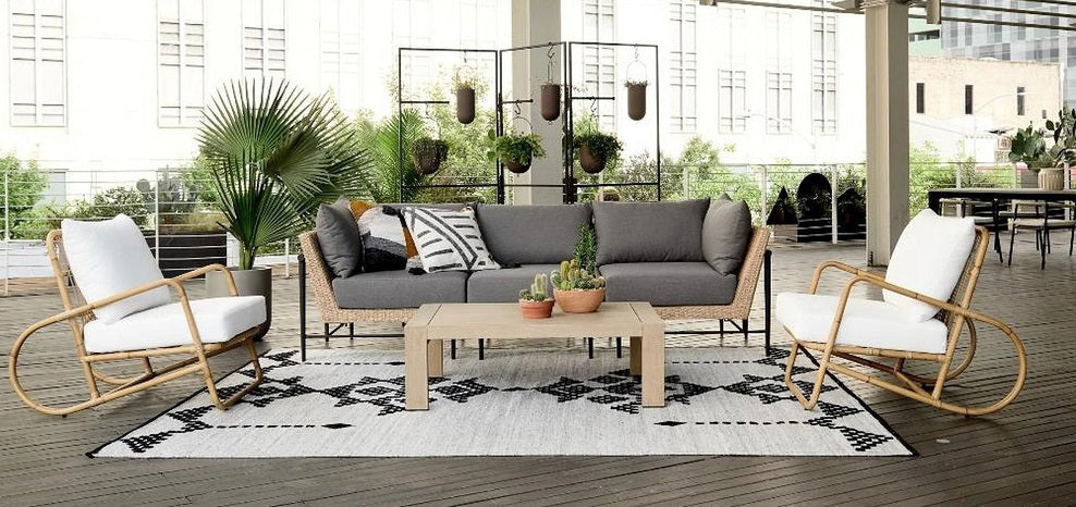 Four Hands Cavan Outdoor 3 Pc Sectional-Natural