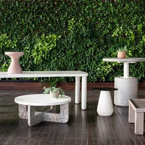 Four Hands Koda Outdoor End Table Textured Clay