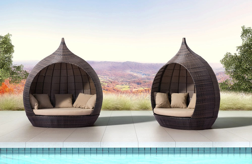 Zuo Martinique Beach Daybed Brown