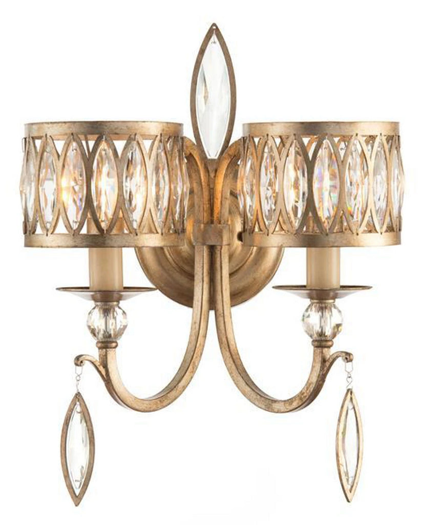 John Richard Marquise Crystal Two-Light Wall Sconce