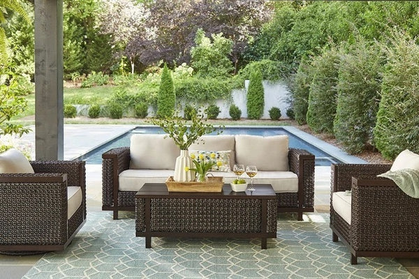 ART Furniture Epicenters Brentwood Outdoor Wicker Sofa