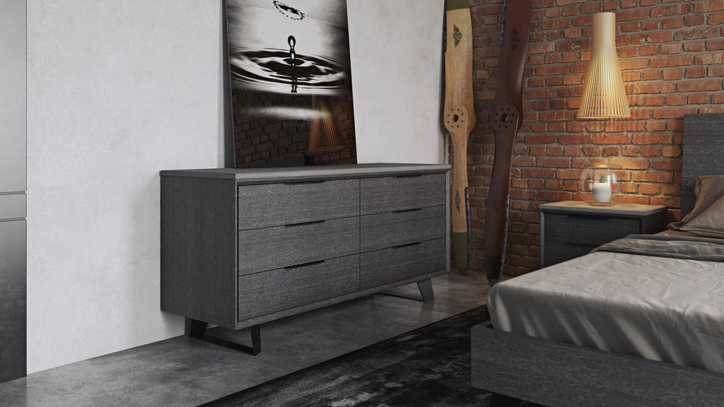 Modloft Amsterdam Dresser Gray Oak