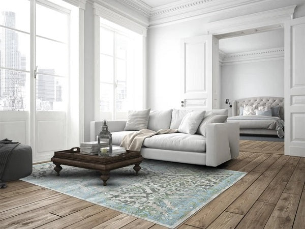 Feizy Katari Rug 3374F In Ice/Birch