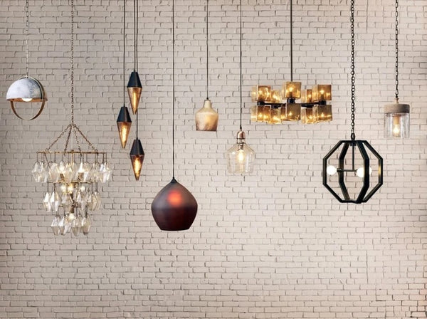 Four Hands Ava Large Chandelier-Aged Metallic Glass