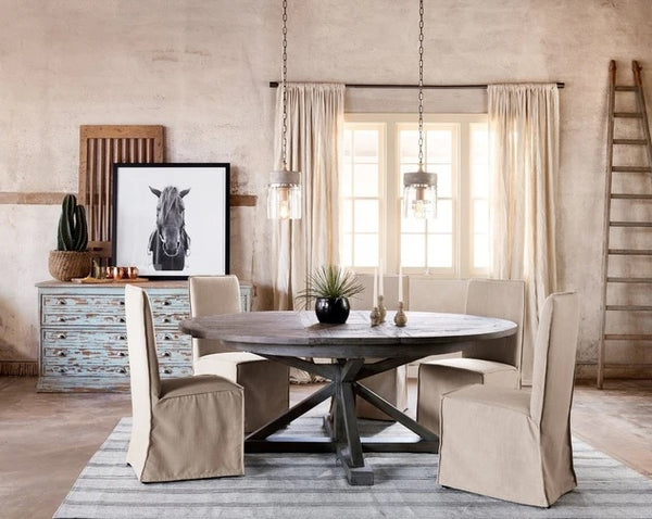 Four Hands Cintra Extension Dining Table 48inch, Rustic Sundried Ash