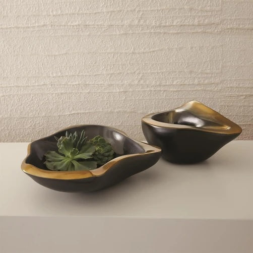 Global Views Formation Bowl Black and Platinum- Small