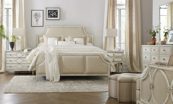 Hooker Furniture Bedroom Sanctuary Anastasie Upholstered Bed Queen