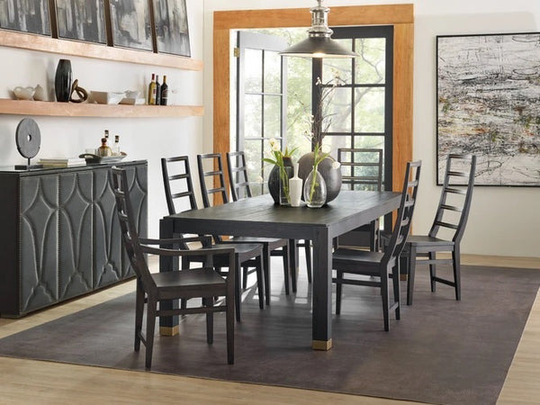 Hooker Furniture Dining Room Curata Rectangle Dining Table with 2-20in leaves
