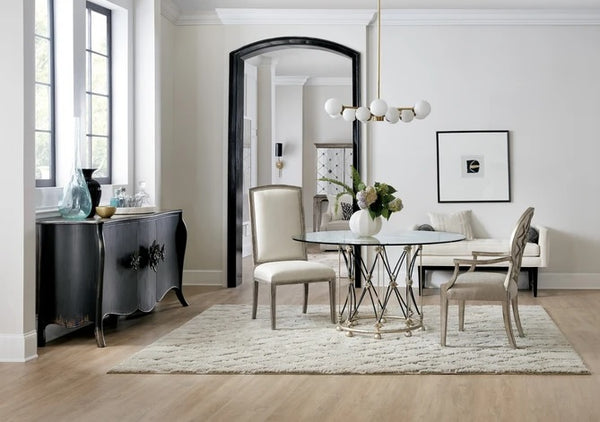 Hooker Furniture Dining Room Sanctuary Pirouette Dining Table Base and Top Table Base