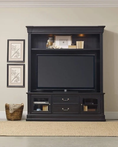 Hooker Furniture Home Entertainment Clermont Two Piece Group Black