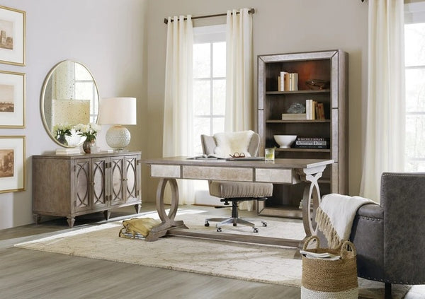 Hooker Furniture Home Office Rustic Glam Bookcase